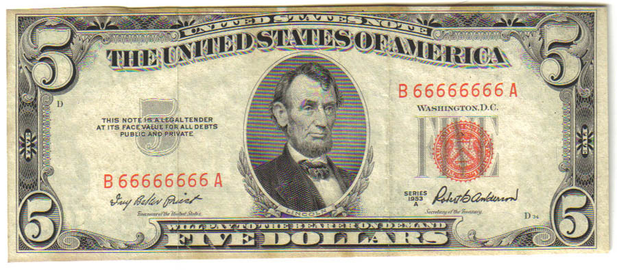 First City Currency Silver Certificates Frbns Usn Fancy Numbers